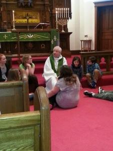 The start of the Children's Sermon