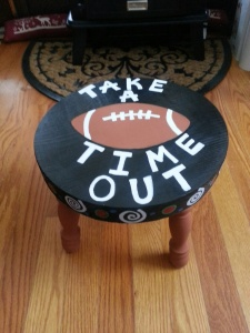 Football Time Out Stool