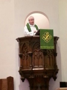 Love the pulpit at St. Stephen's